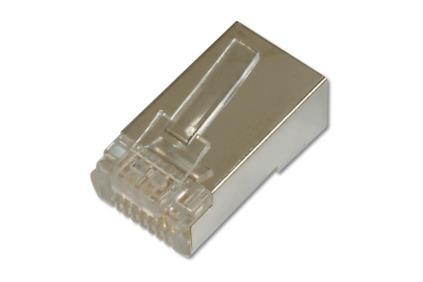 ASSMANN Electronic AK-219603 kabel-connector RJ-45 Nikkel, Transparant