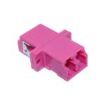 Cablenet OM4 LC Duplex Adaptor Erika Violet