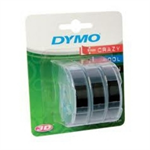 DYMO S0847730 Embossing tape, 9mmx3m, Pack qty 3