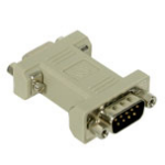 C2G DB9 Modem Adapter DB9 M DB9 FM Grey cable interface/gender adapter