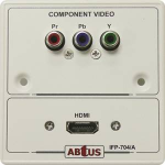 Abtus IFP-704A multimedia single gang interface panel (with PCB board), 1 RCA, 1 HDMI w/o backbox