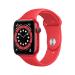 Apple Watch Series 6 44 mm OLED 4G Rojo GPS (satélite)