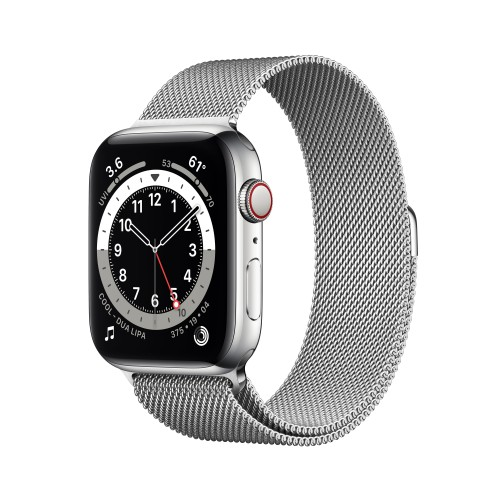 Apple Watch Series 6 44 mm OLED 4G Silver GPS (satellite)