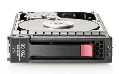 "Hewlett Packard Enterprise 750GB, 3G, SATA, 7.2K rpm, LFF, 3.5-inch, Midline 3.5"" Serial ATA"