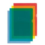 Esselte Folders PVC Cut back Blue A4 105 micron 54837(PK100)