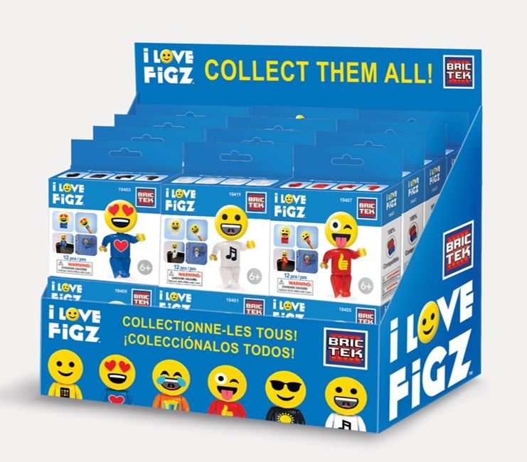 BRICTEK TOY BRICTEK I LOVE FIGZ EMOJI ASST DISP24(EACH)