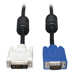 Tripp Lite DVI to VGA Monitor Cable Shielded High Resolution with RGB Coax (DVI-A to HD15 M/M), 3.05 m