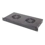 Cablenet 2 Way 1u Fan Shelf 19inch Rackmountable (170mm Depth)