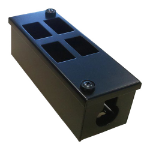 Cablenet 4 Way POD Box Vertical 2 x 2 Rows LJ6C 56mm Deep 32mm Entry