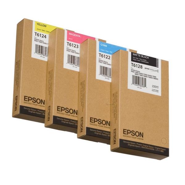 Epson C13T612800 (T6128) Ink cartridge black matt, 220ml
