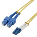 MCL 2m SC/LC OS2 cable de fibra optica Yellow,Multicolour