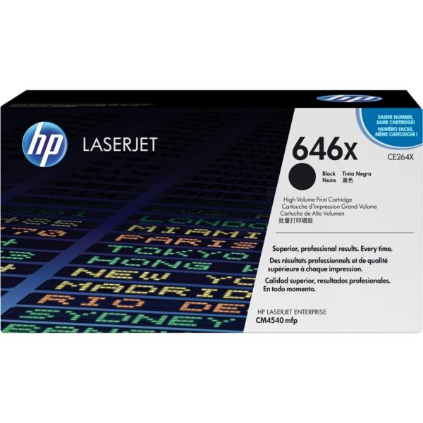 HP CE264X (646X) Toner black, 17K pages @ 5% coverage