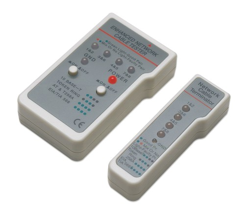 Intellinet Multifunction Cable Tester, RJ-45 and RJ-11, UTP/STP/FTP, Shielded and Unshielded