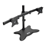 """Tripp Lite Dual-Monitor Desktop Mount Stand for 13"""" to 27"""" Flat-Screen Displays"""