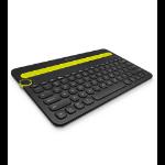Logitech K480 Bluetooth AZERTY French Black,Green mobile device keyboard