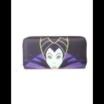 Disney Maleficient 2 - Ladies Patched Zip Around Wallet Multicolour