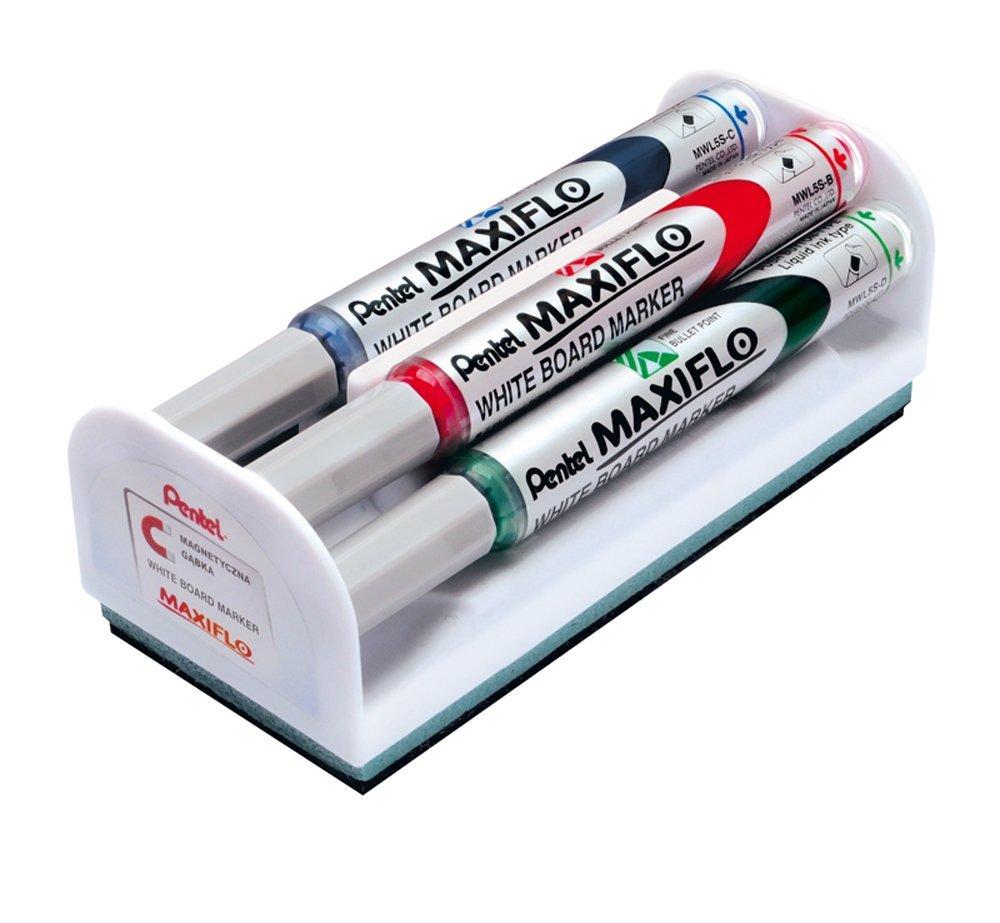 Pentel Bullet Marker & Eraser Set Astd PK4