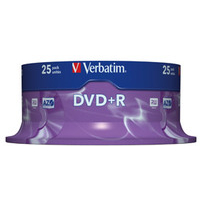DVD+r Media 4.7GB 16x Matt Silver 25-pk With Spindle