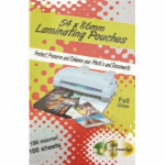 PHE GOLD SOVEREIGN LAMINATING POUCHES 150 MICRON 54 X 86MM PACK 50