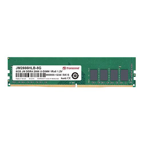 8GB Jetram Ddr4 2666mgz U-DIMM 1rx8 Cl19