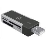 Shintaro USB2.0 External Mini Multi Card Reader (Micro SD card, SD / MMC, MS / MS Duo)
