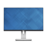 "DELL UltraSharp U2414H 23.8"" Full HD LED Matt Black, Silver computer monitor"