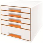 Leitz 52141044 Polystyrene Orange,White desk drawer organizer
