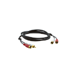 Kramer Electronics 2xRCA, M/M, 3.0m 3m RCA RCA Black audio cable
