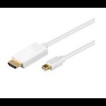 Microconnect 3m MDP/HDMI M/M mini DisplayPort White