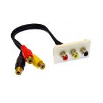 Cables Direct ZZ-MOD-3RCA keystone module