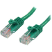 StarTech.com Cable de Red de 0,5m Verde Cat5e Ethernet RJ45 sin Enganches