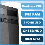 BD4U Business 4 Me Custom PC - Pentium, 8GB, 120GB SSD, Win10