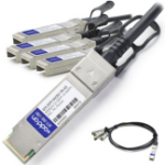 """AddOn Networks QSFP+/4xSFP+ 1m InfiniBand cable 39.4"""" (1 m) QSFP+ 4xSFP+ Black"""
