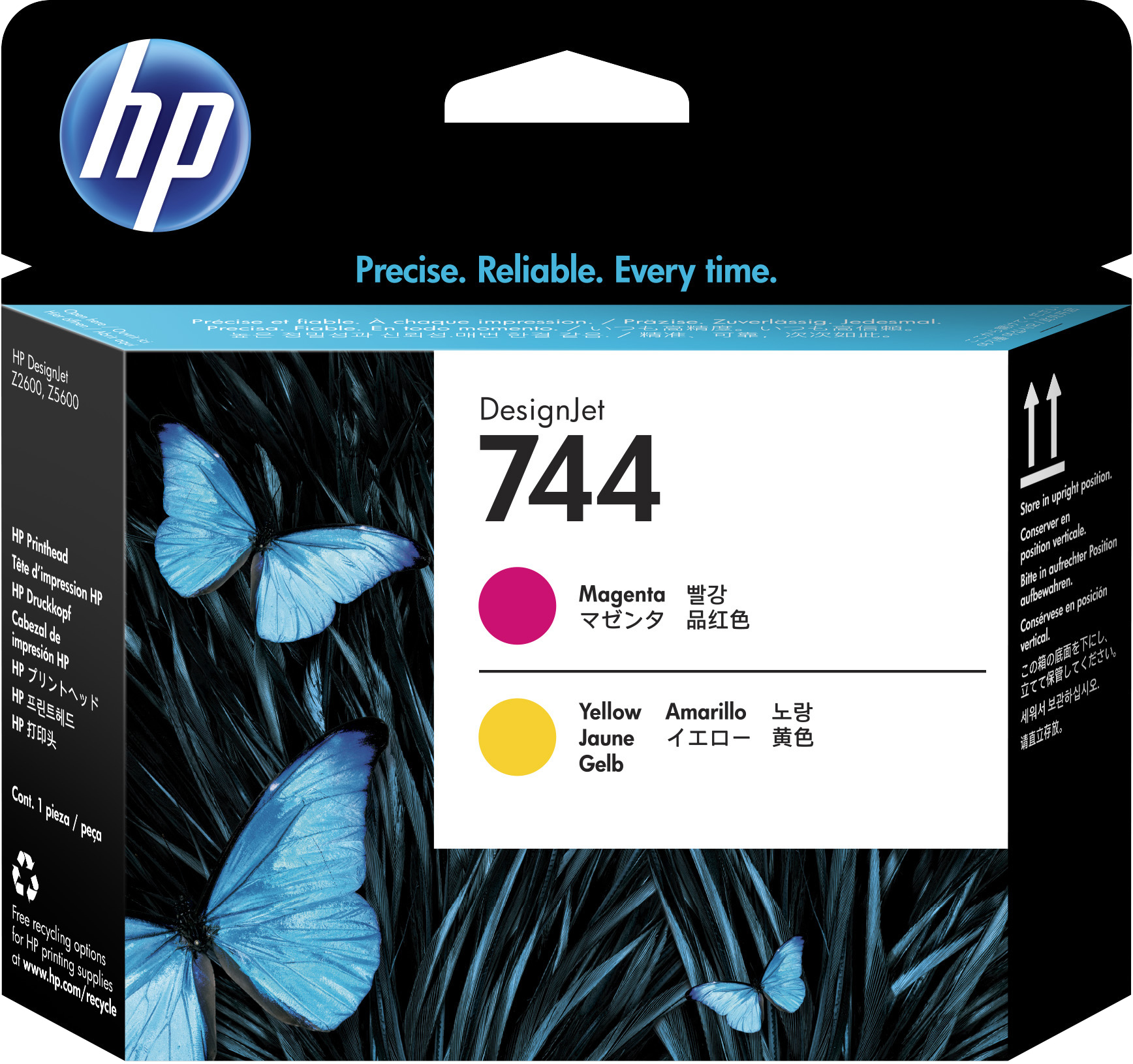HP 744 Magenta/Yellow DesignJet Printhead