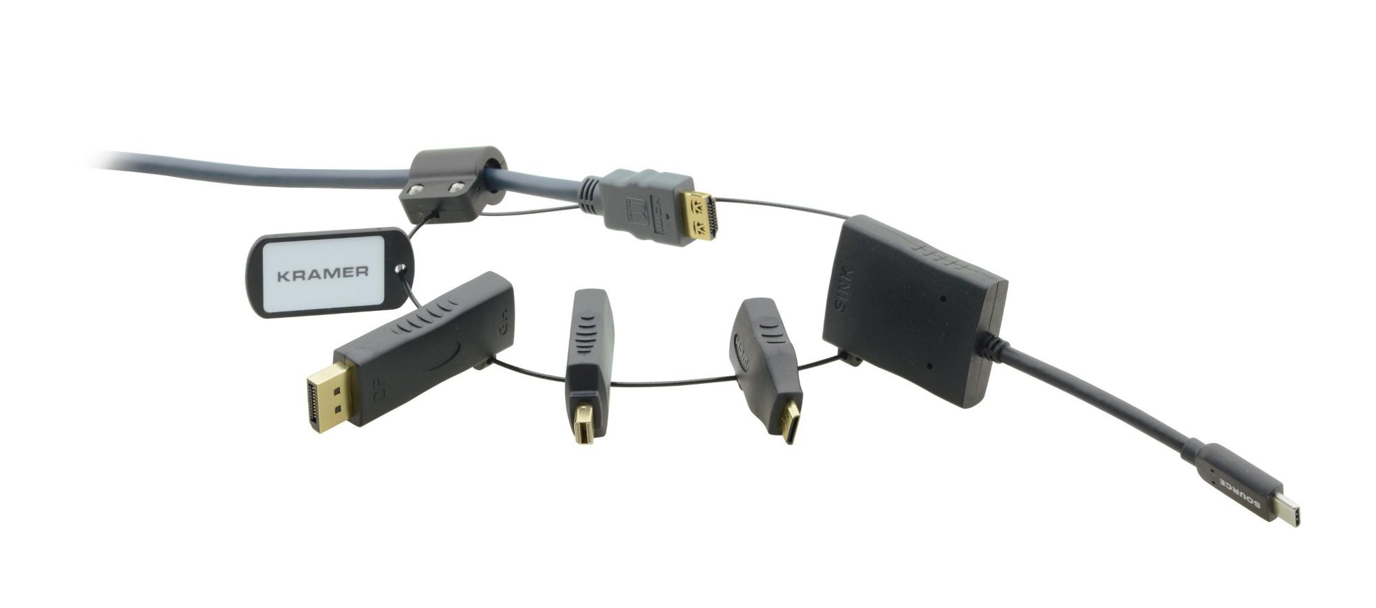 Kramer Electronics AD-RING-5 adaptador de cable Negro