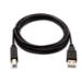 V7 Cable USB negro con conector USB 2.0 A macho a USB 2.0 B macho 2m 6.6ft