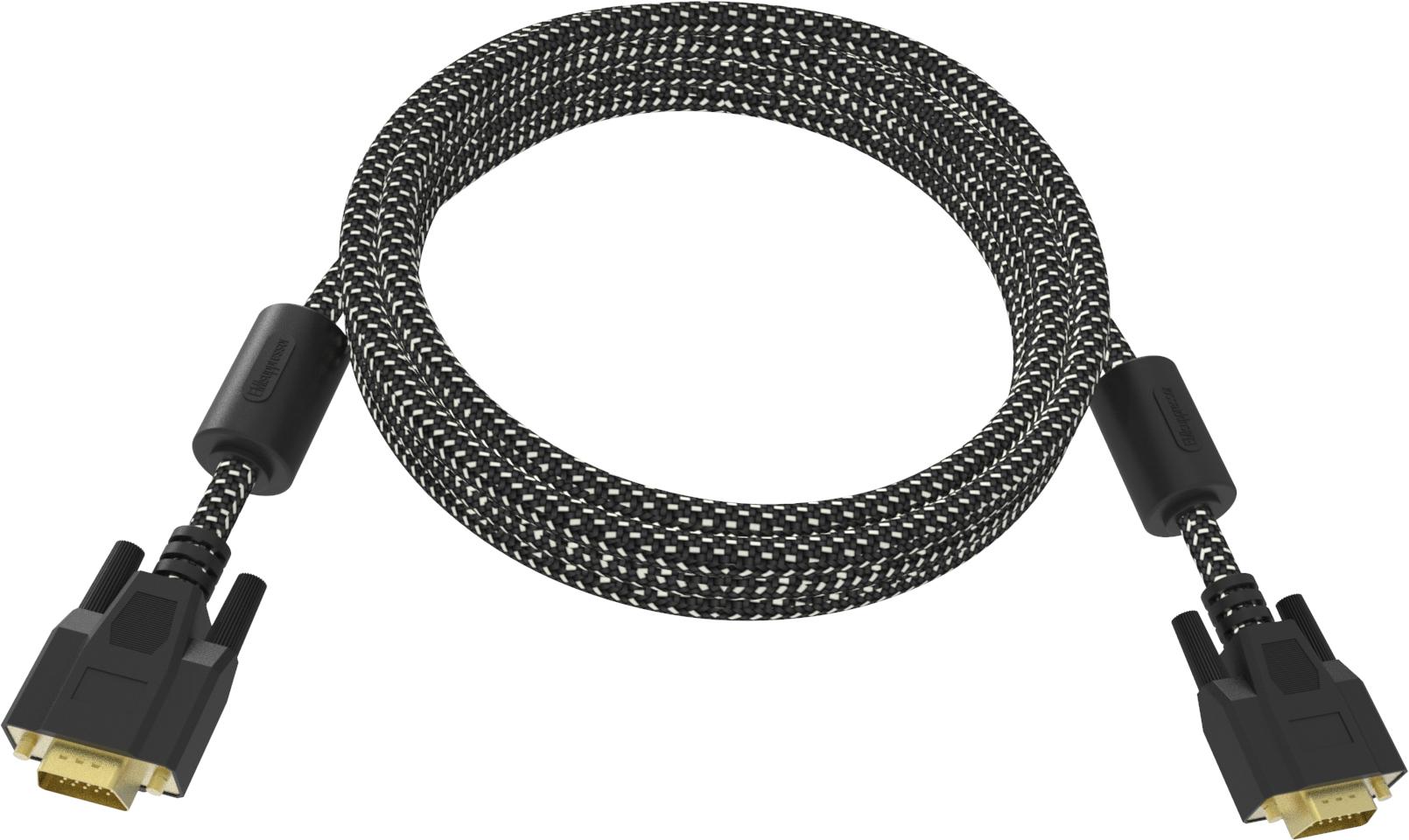 Vision TC 1MVGAP/HQ cable VGA 1 m VGA (D-Sub) Negro