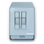 QNAP QMiroPlus-201W NAS Desktop Ethernet LAN Blue J4125