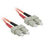 C2G 2m SC/SC LSZH Duplex 62.5/125 Multimode Fibre Patch Cable