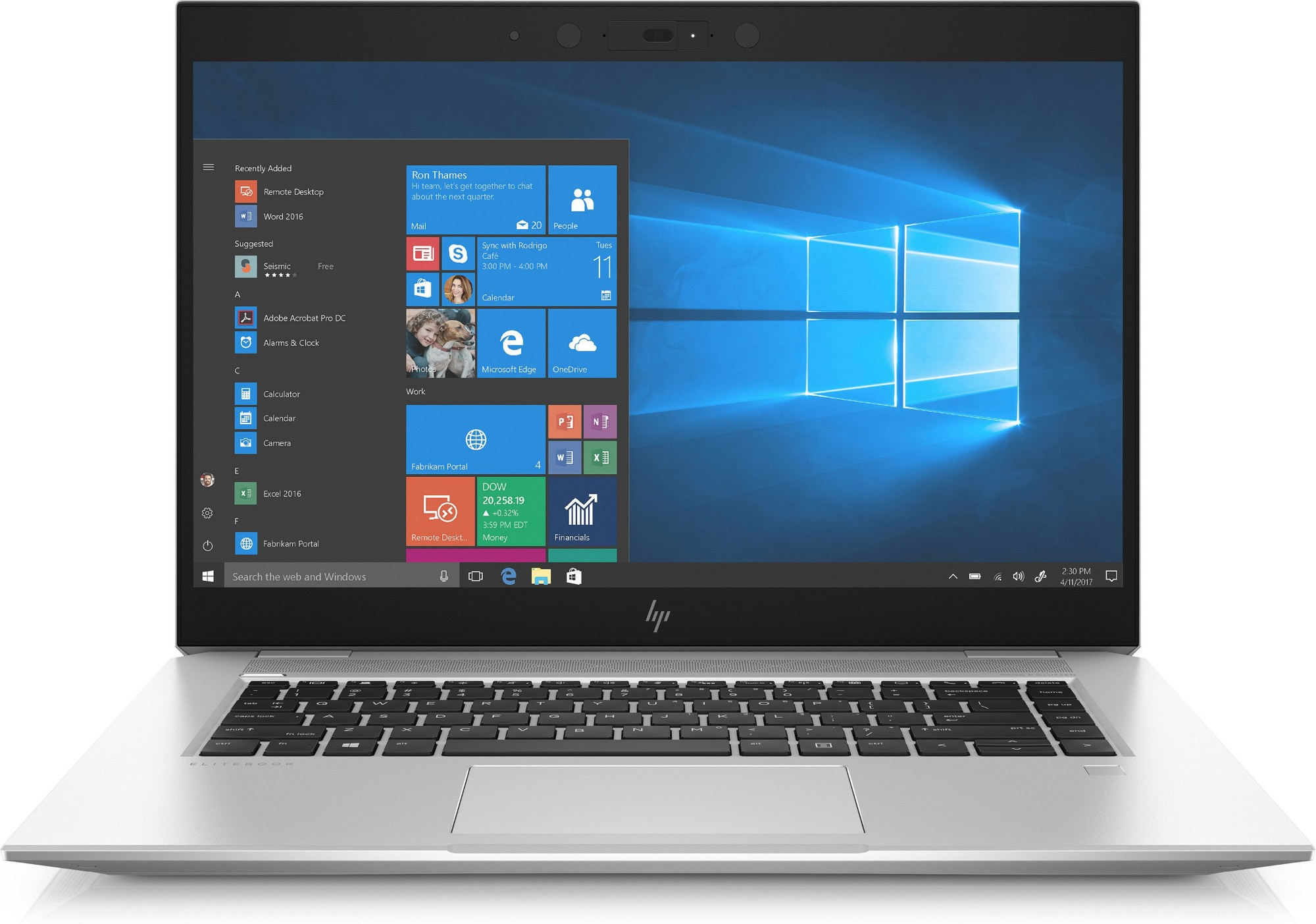 "HP EliteBook 1050 G1 Zilver Notebook 39,6 cm (15.6"") 1920 x 1080 Pixels Intel® 8ste generatie Core™ i5 i5-8300H 8 GB DDR4-SDRAM 256 GB SSD"
