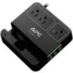 "APC P3U3B surge protector 3 AC outlet(s) 120 V 72"" (1.83 m) Black"