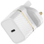 OtterBox UK Wall Charger 20W - 1X USB-C 20W USB-PD, Cloud Dust White