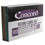 Concord RECD CRD 5X3 AST PK100 16099/160