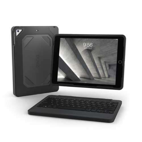 ZAGG Rugged Book mobile device keyboard UK English Black Bluetooth