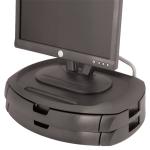 Kantek MS200B Flat panel Multimedia stand Black multimedia cart/stand