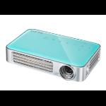 Vivitek Qumi Q6 data projector 800 ANSI lumens DLP WXGA (1280x800) 3D Portable projector Blue, Silver