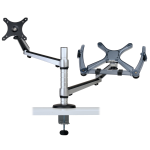 """Tripp Lite Full Motion Dual Desk Clamp for 13"""" to 27"""" Monitors and Laptops Up to 15"""""""