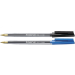 Staedtler Medium 0.5mm Blue & Black Stick Pens Mixed PK100
