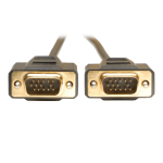Tripp Lite VGA Monitor Gold Cable Molded Shielded, 640x480 (HD15 M/M), 1.83 m