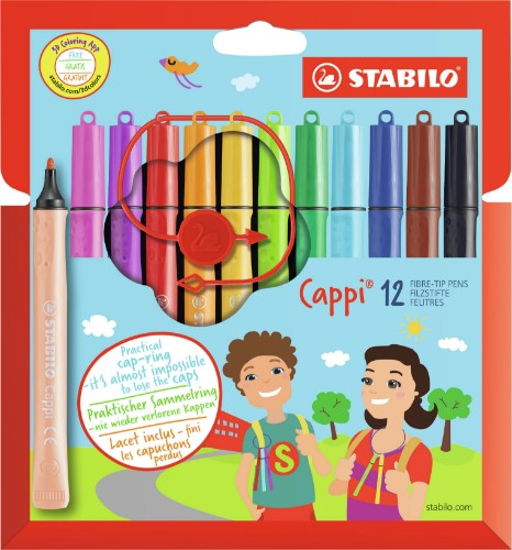 STABILO Cappi felt pen Medium Multicolour 12 pc(s)